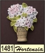 3d naambord met een bloem for Huisnummerbord maken