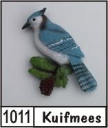 3d naambord met een vogel for Huisnummerbord maken