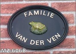 3d naambord of huisnummer met eenamfibie of reptiel for Huisnummerbord maken